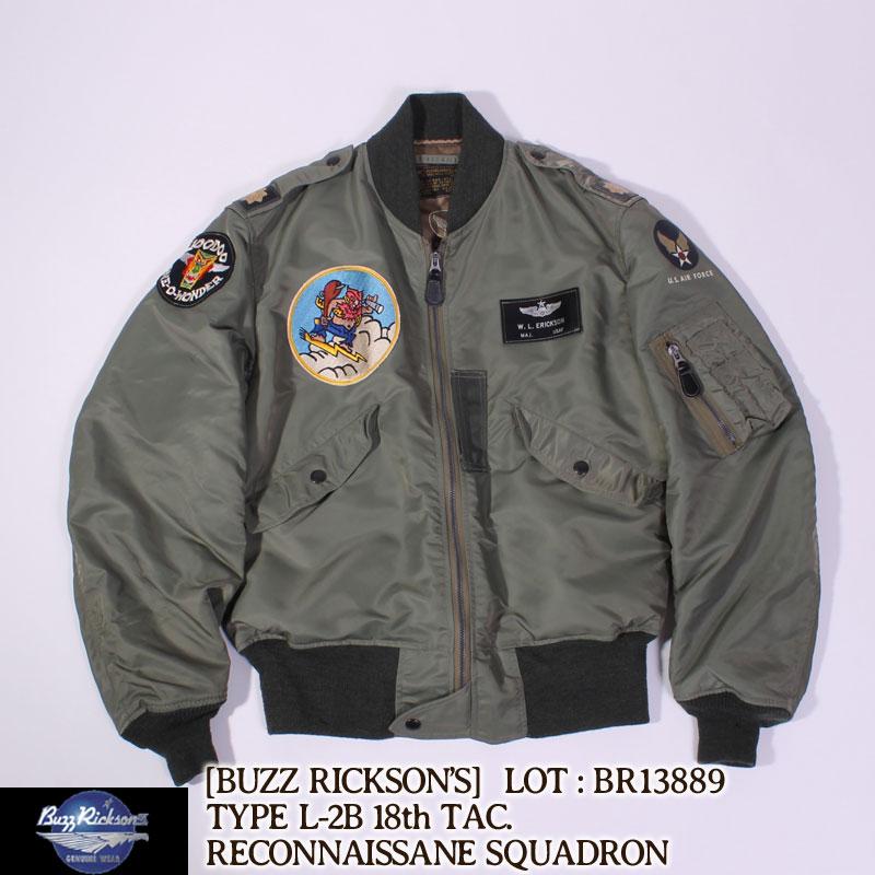 """残り1点! バズリクソンズ タイプ L-2B Buzz Rickson's """"18th TAC RECON SQ"""" フライトジャケット [BR13889] バズリクソンズ[送料無料]フライトジャケットタイプL-2B"""