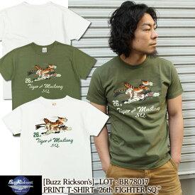 "Buzz Rickson's 半袖Tシャツ S/S T-SHIRT ""26th FIGHTER SQ."" [BR78017] 東洋エンタープライズ バズリクソンズ 半袖 Tシャツ プリント ショートスリーブ アメカジ ミリタリー メンズ"