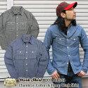 EIGHT-G,シャンブレーカラーワークシャツ,綿麻素材,8LS-14