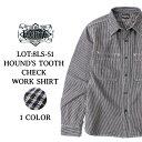 【2月下旬お届け】 千鳥チェックシャツ メンズ EIGHT-G 千鳥チェックワークシャツ HOUND'S TOOTH CHECK WORK SHIRT [8LS-51] エイトジ…