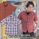 EIGHT-G エイトジー 日本製 チェック半袖ワークシャツ [8SS-24] 国産 ショートスリーブ ワークシャツ チェックシャツ 半袖シャツ 綿 麻…