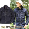 エイトジー,EIGHT-G,長袖,ウォバッシュストライプワークシャツ,8LS-36
