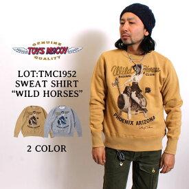 """TOYS McCOY スウェットシャツ FLAT SEAMER SWEAT SHIRT MARILYN MONROE""""WILD HORSES"""" [TMC1952] トイズマッコイ 日本製 国産 マリリンモンロー フラットシーマー クルーネック プリント スエット トレーナー 綿100% アメカジ メンズ"""