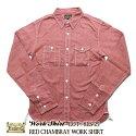 EIGHT-G,シャンブレーカラーワークシャツ,綿麻素材,8LS-25