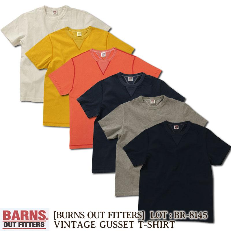 バーンズ BARNS OUT FITTERS 丸胴ヴィンテージガゼットTシャツ [BR-8145] 日本製 国産 半袖 Tシャツ ショートスリーブ 無地 アメカジ メンズ