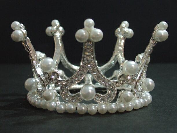 ティアラ 王冠 真珠 パール 姫系 キュービックジルコニア コスプレ 【あす楽】