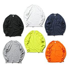 GILDAN ギルダン / 2410 6.0oz Ultra Cotton Long Sleeve Pocket T-Shirt ウルトラコットン長袖ポケットTシャツ - 全6色 ロンT ポケT ロングスリーブ