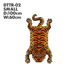 ポイント最大35倍 チベタンタイガーラグ Sサイズ DTTR-02 レッド Sサイズ