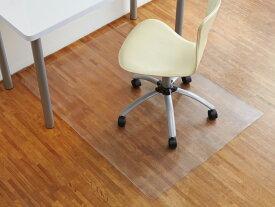 床を守る 撥水加工 汚れ キズ防止 クリア チェアマット 90×120cm音防止 厚さ1mm デスクマット フロア マット 床キズ 音対策