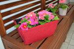 折りたたみフェルトプランター角型鉢植えネイビーブルーガーデニングエコ植木鉢直径約18cm