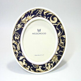 ウェッジウッド コウヌコピア・ブルーバンド オーバル写真立 H16.5cm wedgwood フォトスタンド