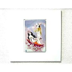 マイセン・ゴンドラに乗る王様と王妃様931426 磁板画95130