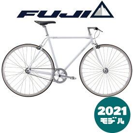 【2021年モデル】FUJI (フジ) STROLL (ストロール) WHITE (ホワイト) ピストバイク トラックバイク【プロの整備士による整備組付済】【丸太町店(スポーツ専門)】シングルバイク シングルスピード