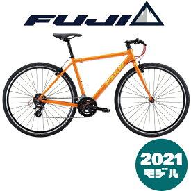 【2021年モデル】FUJI (フジ) RAIZ (ライズ) BRIGHT ORANGE (ブライトオレンジ) レイズ【プロの整備士による整備組付済】【丸太町店(スポーツ専門)】クロスバイク