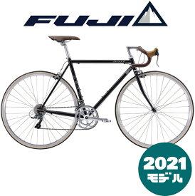 【2021年モデル】FUJI (フジ) BALLAD R (バラッド アール) BLACK (ブラック) 【プロの整備士による整備組付済】【丸太町店(スポーツ専門)】ロードバイク