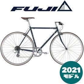 【2021年モデル】FUJI (フジ) BALLAD (バラッド) STEEL NAVY (スチールネイビー) 【プロの整備士による整備組付済】【丸太町店(スポーツ専門)】クロスバイク