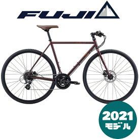 【2021年モデル】FUJI (フジ) FEATHER CX FLAT (フェザーCX フラット) CARAMEL WINE (キャラメルワイン) 【プロの整備士による整備組付済】【丸太町店(スポーツ専門)】クロスバイク