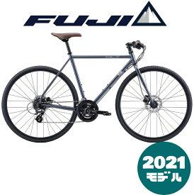 【2021年モデル】FUJI (フジ) FEATHER CX FLAT (フェザーCX フラット) ULTRA METAL (ウルトラメタル) 【プロの整備士による整備組付済】【丸太町店(スポーツ専門)】クロスバイク