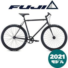 【2021年モデル】FUJI (フジ) DECLARATION (デクラレーション) MATT BLACK (マットブラック) シングルスピード ピスト トラックバイク【プロの整備士による整備組付済】【丸太町店(スポーツ専門)】シングルバイク