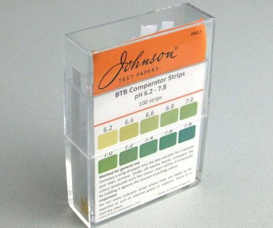 【メール便】 アズワン pH試験紙 PPスティックタイプ 044.3 pH測定領域6.2- 7.8 100枚入 (1-1746-10)