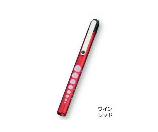 【メール便】 アズワン ペンライト ソフトLEDアルカプッシュライト ワインレッド φ12×137 (0-9271-24)