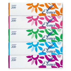 エルモア200 ボックスティッシュ 400枚(200組)×5箱組 カミ商事