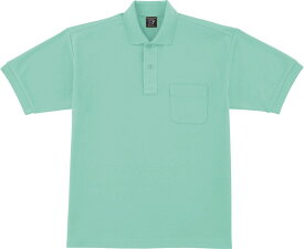 自重堂 WHISeL 半袖ポロシャツ 47614 ミントグリーン