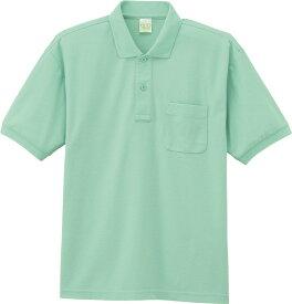 自重堂 WHISeL 半袖ポロシャツ 85254 ミントグリーン