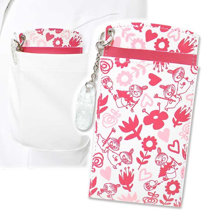 【メール便】 ムーミン 胸ポケット用ペンケース リトルミイ 総柄レッド ST-ZM0135