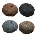 グレンチェックベレー帽 定番冬小物 レディース ベレー帽 グレンチェック タータンチェック ウール混 帽 帽子 ハット …