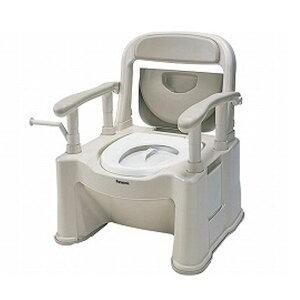 【楽天スーパーセール ポイント5倍】パナソニック 樹脂製ポータブルトイレ 座楽SPシリーズ 背もたれ型SP 標準便座タイプ VALSPTSPBE (ポータブルトイレ 肘付き椅子 プラスチック 椅子) 介護用品