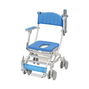 (代引き不可) シャトレチェアC 4輪自在タイプ O型シート バケツ付 STR6203 ウチヱ (お風呂 椅子 浴用 シャワーキャリー 折りたたみ) 介護用品