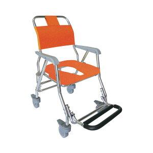 (代引き不可)睦三 シャワーキャリー LX 5002 標準座面 O型ソフトシート 4輪キャスタータイプ (お風呂 椅子 浴用椅子 シャワーキャリー 背付き 介護) 介護用品