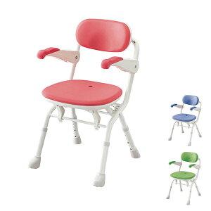 アロン化成 安寿 楽らく開閉シャワーベンチ Sコンパクト 536-094 536-095 536-096 (介護用 風呂椅子 介護 浴室 椅子 チェア 折りたたみ 肘掛け椅子)介護用品