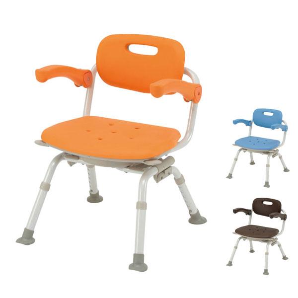 パナソニック シャワーチェア [ユクリア] ミドルSP回転おりたたみN PN-L41221 (介護用 風呂椅子 お 風呂 椅子 カビ にくい チェア 折りたたみ 浴室 椅子 肘掛け椅子 回転椅子) 介護用品