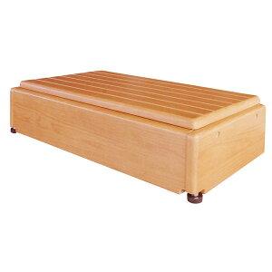 玄関台(木製) 昇降60W-30 640-060 (幅60×奥行30×高さ15〜22.5cm・4段階) シコク (玄関 踏み台 木 踏み台 木製 転倒防止 ステップ 踏み台 ステップ 木製) 介護用品