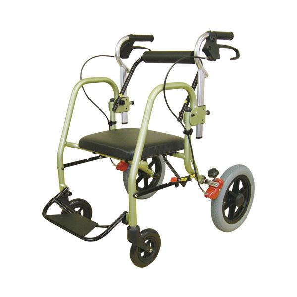 (代引き不可) 次世代歩行車 NOPPO (のっぽ) INB12 (歩行車 介助車 介助式 抵抗器付き 折りたたみ) 介護用品