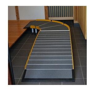 (代引き不可)Lスロープ 1000 643-110 シコク (車椅子 スロープ 段差解消スロープ 屋外用 段差スロープ 介護 スロープ 介護 用 スロープ) 介護用品
