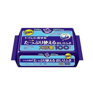 アクティ トイレに流せるたっぷり使えるおしりふき 80623 100枚入 日本製紙クレシア (介護 排泄 おしりふき) 介護用品
