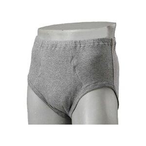 安心パンツ ブリーフ50 紳士用 グレー B4854C S M L LL ニシキ(男性用失禁パンツ 紳士用尿漏れパンツ)介護用品