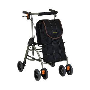 シルバーカー おしゃれ シニア 散歩 テイコブリトルボンベ WAW06 幸和製作所 (歩行車 歩行補助 酸素ボンベ シンプル 折りたたみ) 介護用品 軽量 座れる コンパクト 歩行補助 買い物 ショッピン