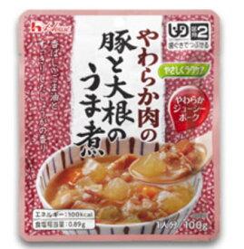 ハウス食品 やさしくラクケア やわらか肉の豚と大根のうま煮 86114 100g 介護用品