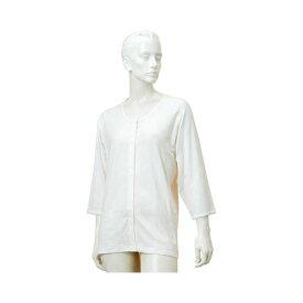 婦人のびのびワンタッチ肌着7分袖(ホック付)GZ6F M-L L-LL オフホワイト 春夏用 神戸生絲 (介護 下着 肌着 女性用) 介護用品