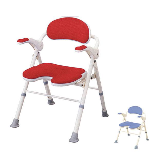 アロン化成 安寿 折りたたみシャワーベンチ TU U型座面 535-467 535-468 (介護用 風呂椅子 介護 浴室 椅子 チェア 折りたたみ 肘掛け椅子) 介護用品