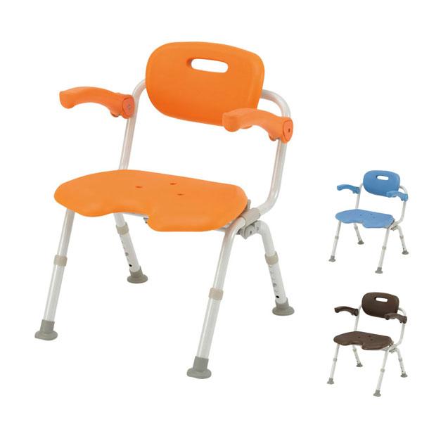 パナソニック シャワーチェア [ユクリア] ワイドSPU型おりたたみN PN-L41621 (介護用 風呂椅子 お 風呂 椅子 カビ にくい チェア 折りたたみ 浴室 椅子 ゆったりサイズ 肘掛け椅子) 介護用品