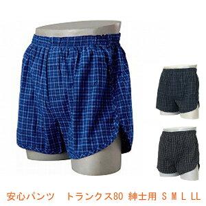 安心パンツ トランクス80 紳士用 ニシキ(男性用失禁パンツ 紳士用尿漏れパンツ 吸水量80cc)介護用品