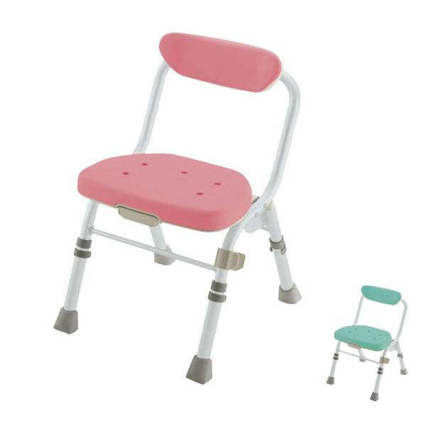 リッチェル 折りたたみシャワーチェア M型 背付H (入浴用品 入浴用椅子 お風呂用いす コンパクト) 介護用品