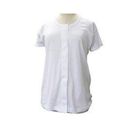 ワンタッチ肌着 半袖 婦人 M L LL 川本産業 (介護 肌着 前開き) 介護用品