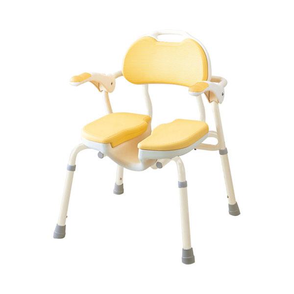 アロン化成 安寿 ひじ掛け付きシャワーイス HP 535-019 (介護用 風呂椅子 介護 浴室 椅子 肘掛け椅子) 介護用品