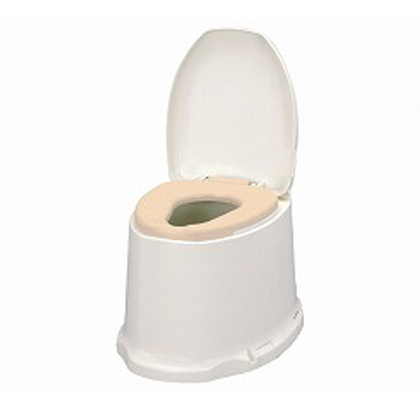 アロン化成 安寿 サニタリエース SD据置式 ソフト便座 ノーマルタイプ 533-473 (和式トイレを洋式に 簡易トイレ 介護 トイレ 便座 便座クッション) 介護用品